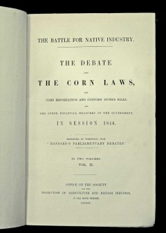 Corn Laws Economic History and Big Data