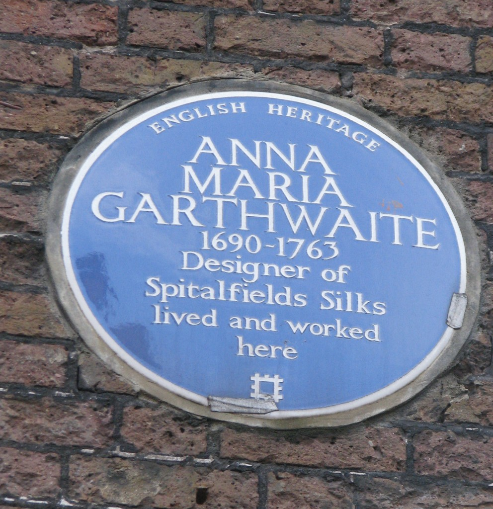 Name plate on house of Anna Garthwaite