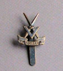 V Force Cap Badge 1943 – 45