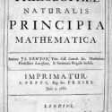 Newton states laws of motion and gravity in Principia Mathematica 1686-1687