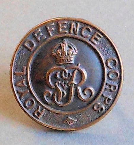 Military memorabilia for Royal Defence Corps