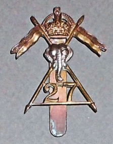 27th Lancers Cap Badge