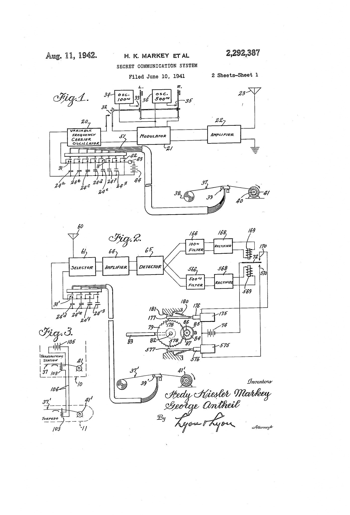 Hedy Lamarrs US Patent