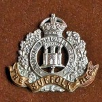Military Cap Badge Suffolk Regiment