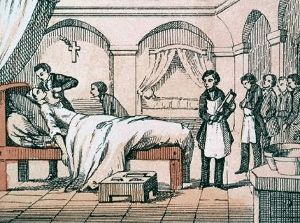Using chloroform for anaesthesia