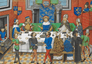 John of Gaunt dining with King John I of Portugal