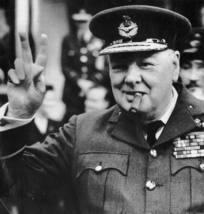 British Prime Minister Winston Churchill in Military Dress