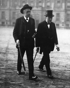 Prime Minister Balfour and Winston Churchill