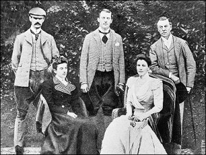 Chamberlain family group Joseph Austen and Neville