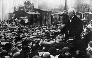 Lloyd George as Prime Minister still talking to the People 1919