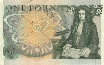 Isaac Newton master of the Royal Mint Pound Note Picture