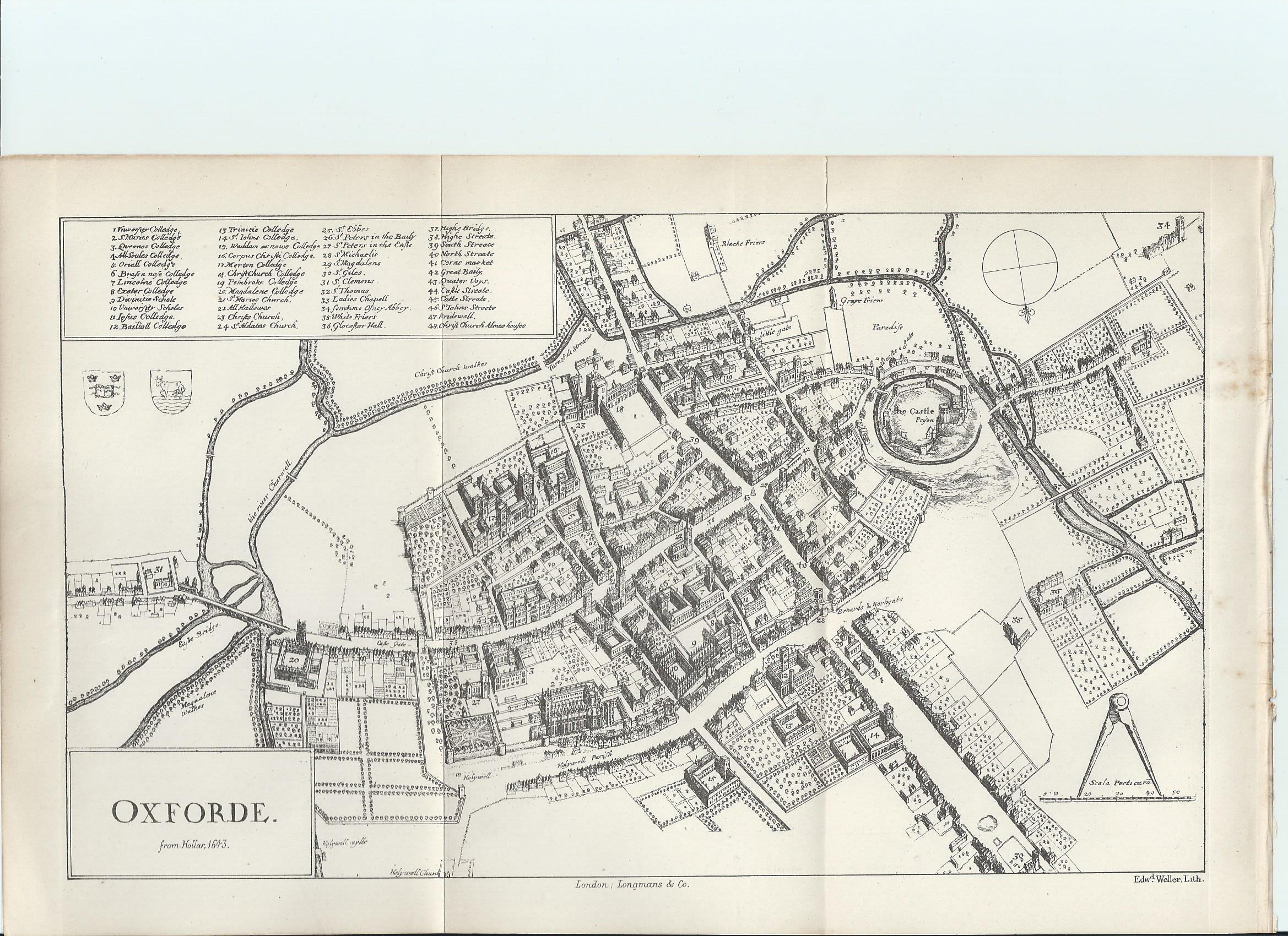 Oxford University Map of Colleges Intriguing History