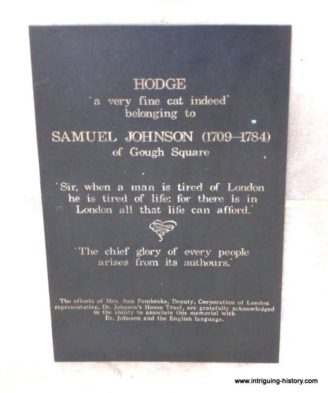 Plaque Samuel Johnson and Hodge