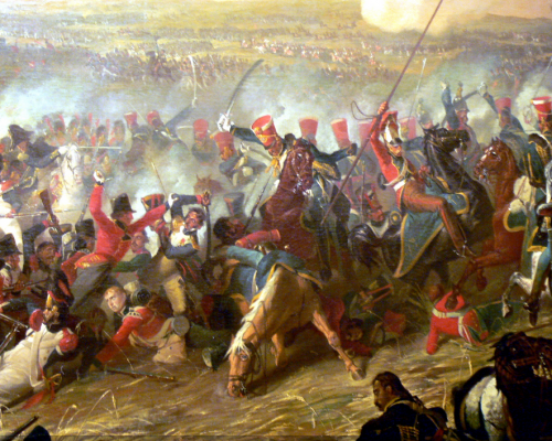Duke of Wellington at the Battle of Waterloo