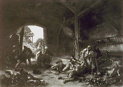 The Day after the Battle of Waterloo