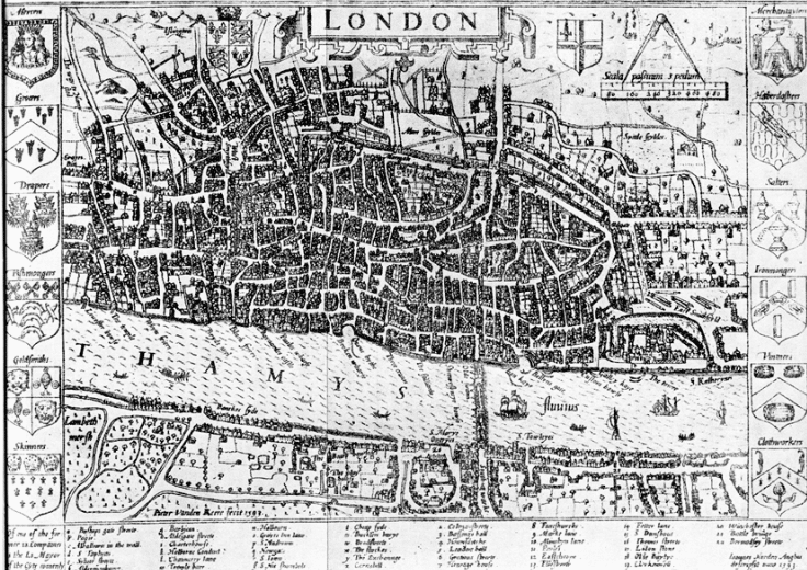 London 1600 Map.17th Century 1600 1699 Archives Intriguing History
